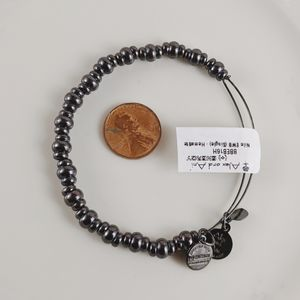 Alex and Ani Midnight Silver Nile Beaded Bracelet